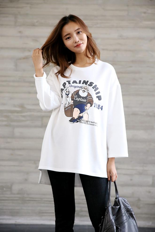 활동적인날... 티셔츠 하나로 캐주얼룩 완성~
