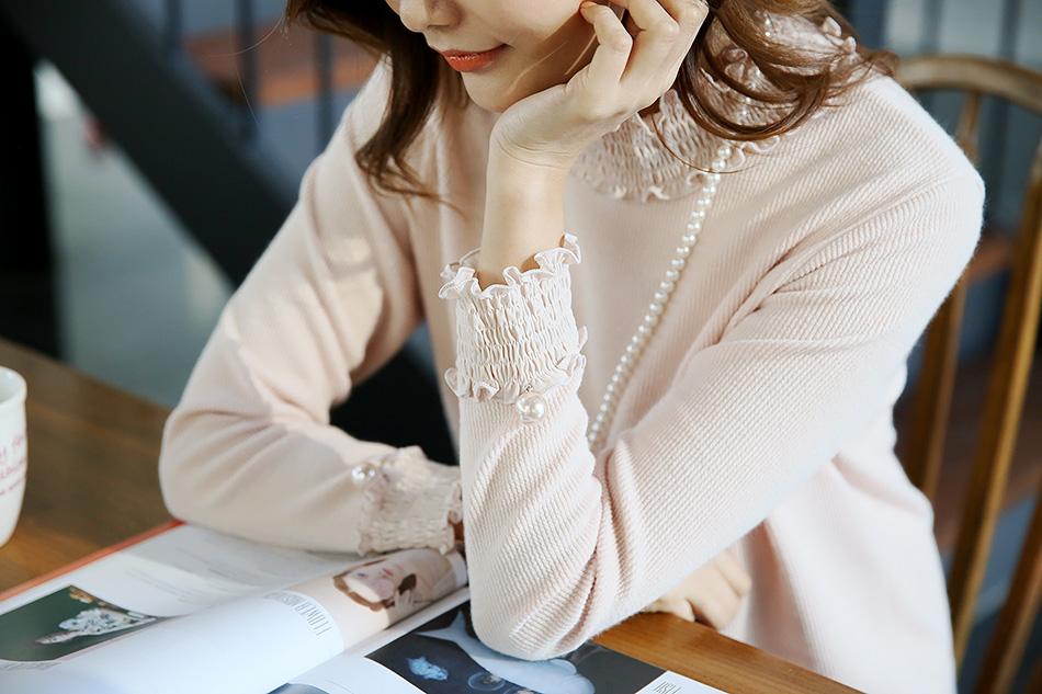 소매단도 스모크밴딩, 게다가 영롱한 진주장식^^