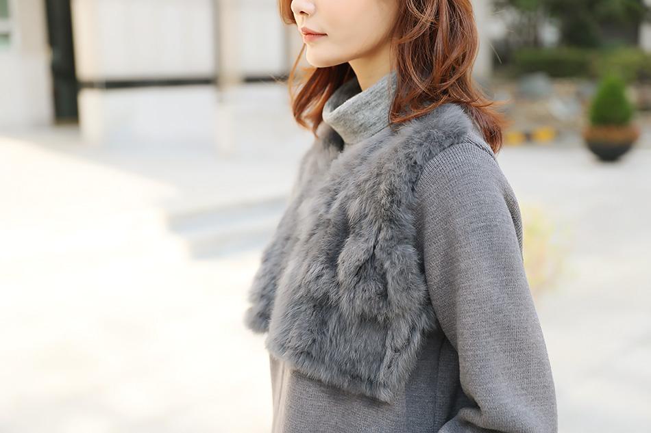 토끼털조끼를 입은 듯 배색디자인 ^^