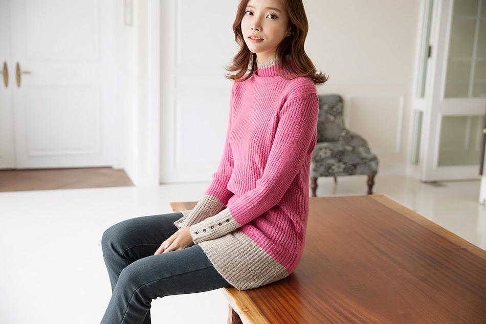 소녀스러운 핑크+베이지 배색^^