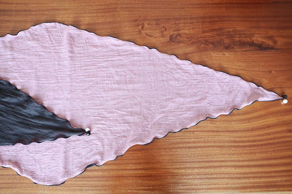 마름모의 긴~ 양면스카프^^