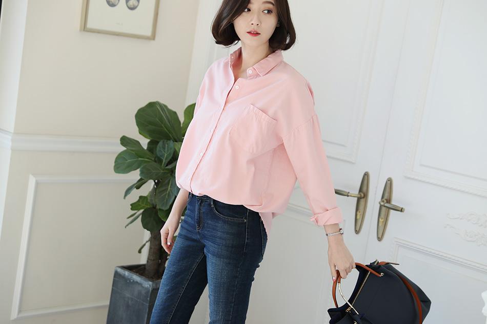 베이직한 디자인으로 어디에든 편안하게 착용하기 좋은 기본 셔츠 ^^