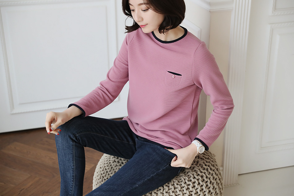 티셔츠 한장으로도 여성스러운 분위기 ..핑크!