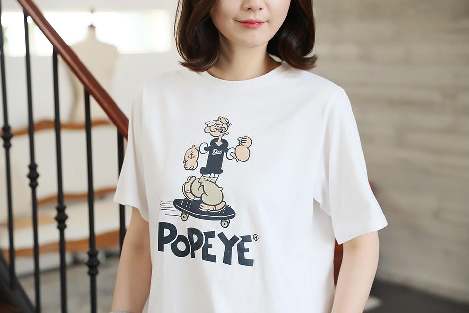 일러스트 프린팅 티셔츠