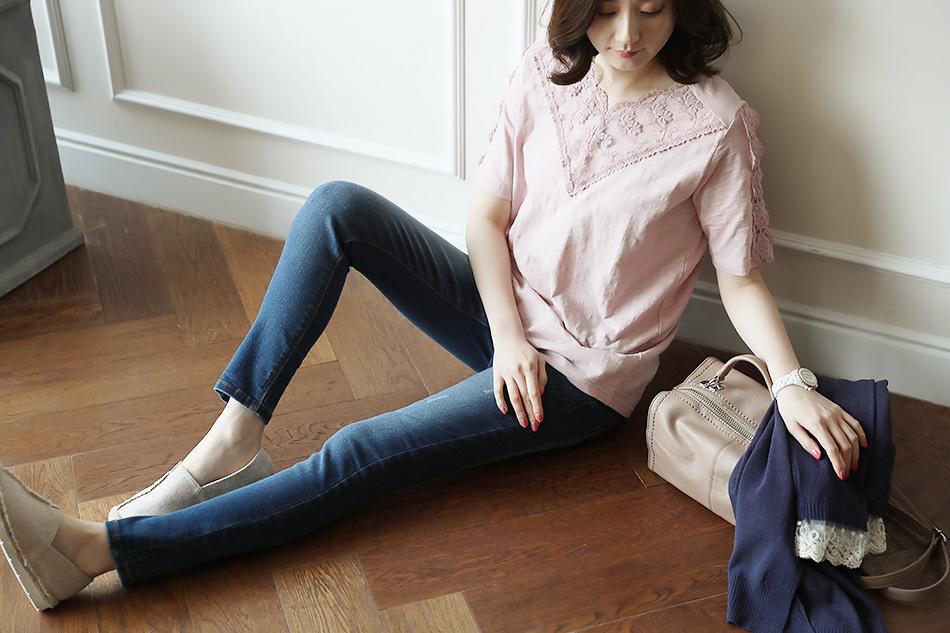 하루종일 편안한 착용감의 티셔츠 (하트)