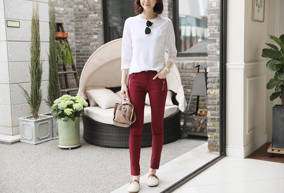 데일리룩으로 입기 좋은 화이트 :)