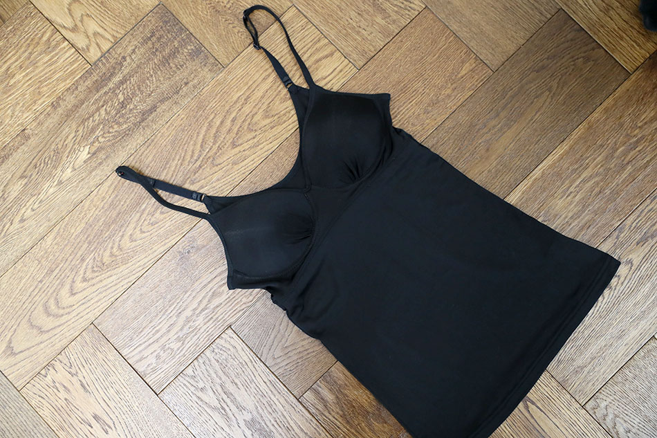 끈 조절이 가능한 브라캡 인견속옷^^