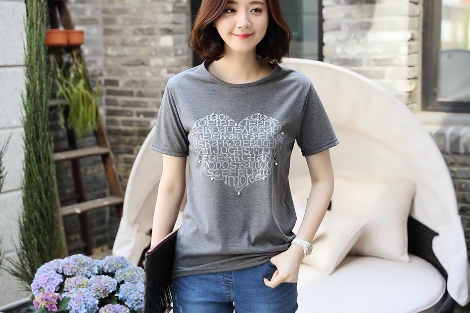 사랑스러운 일러스트가 있는 티셔츠^^