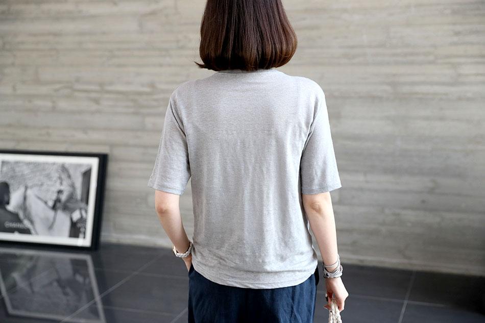 시원한 감촉의 린넨 티셔츠랍니다 (굿)