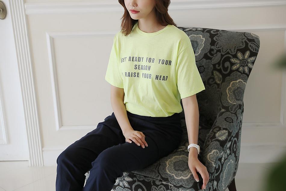 세련된 레터링 티셔츠 (마음)