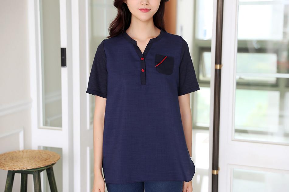 세련된 배색컬러감으로 활용성 좋은 티셔츠 :)