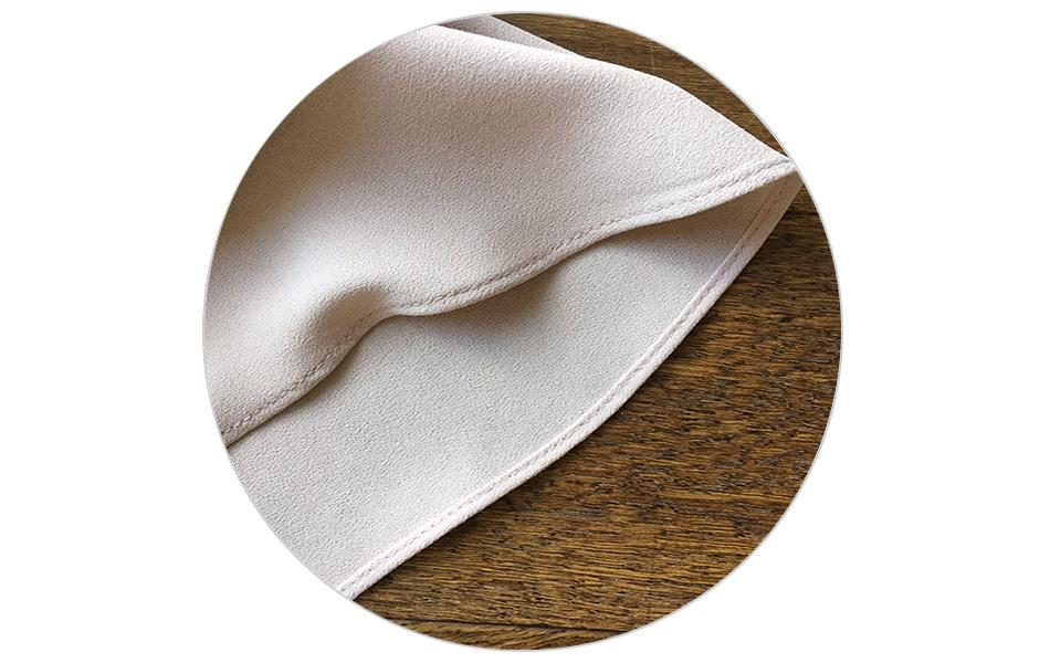 쉬폰 배색- 정성을 다한 바느질^^