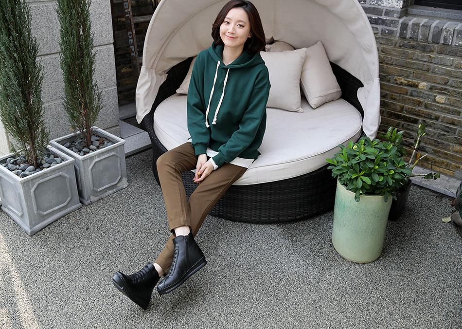 보온성과 핏감 모두 갖춘 '굿잡 기모밴딩' 이랍니다♡(짱)