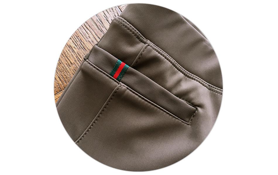 일자라인의 포켓-깔끔한 테이핑 장식