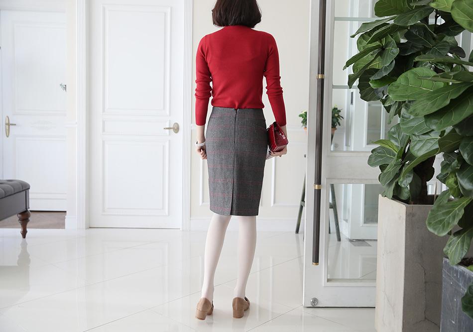여성스러우면서 깔끔한 H라인 정장 스커트 ^ ^(출근복)