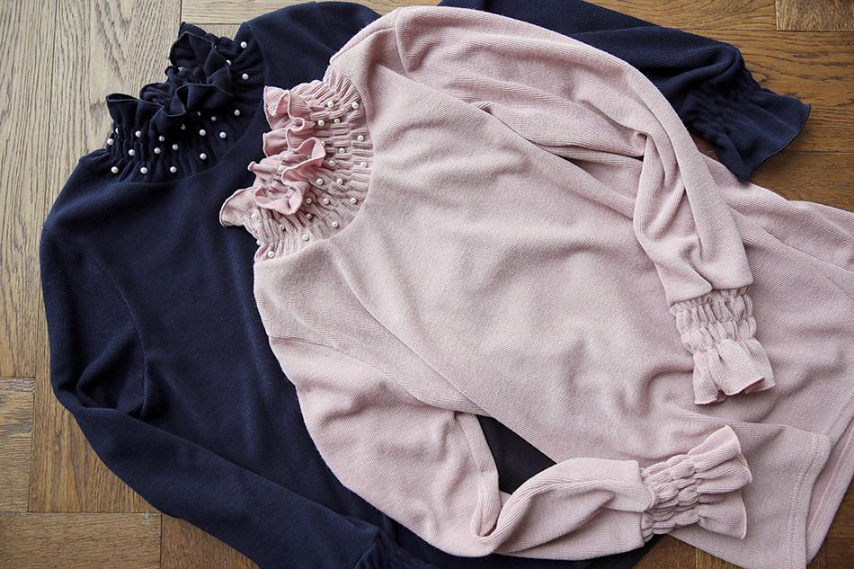 네이비 / 핑크 컬러 : )(예뻐)