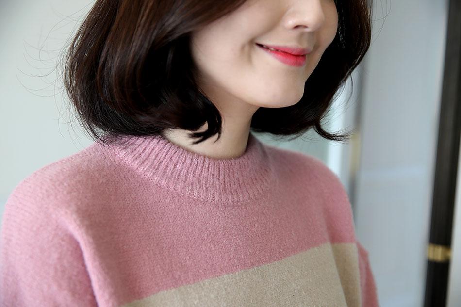 네크라인 기준 핑크 컬러 : )(짱)