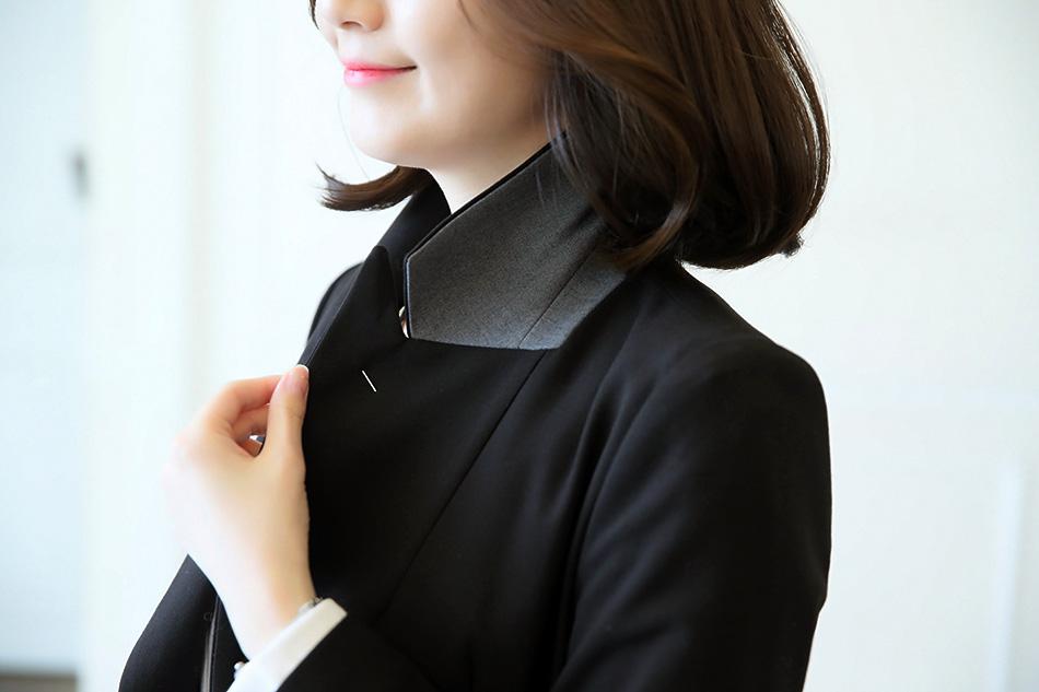 카라 안쪽 배색컬러감으로 세련된 느낌♡(샤방)