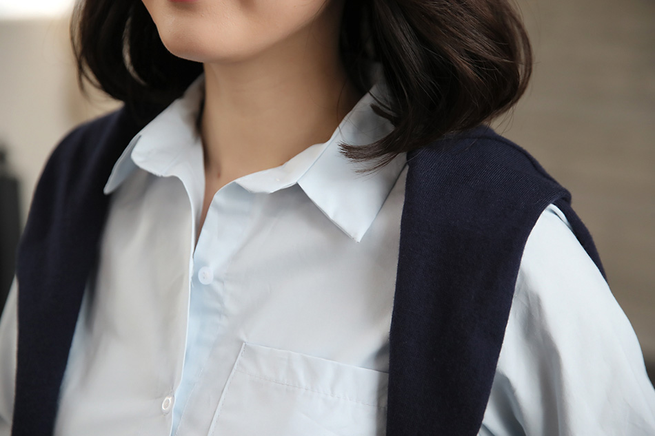 기본 카라의 셔츠
