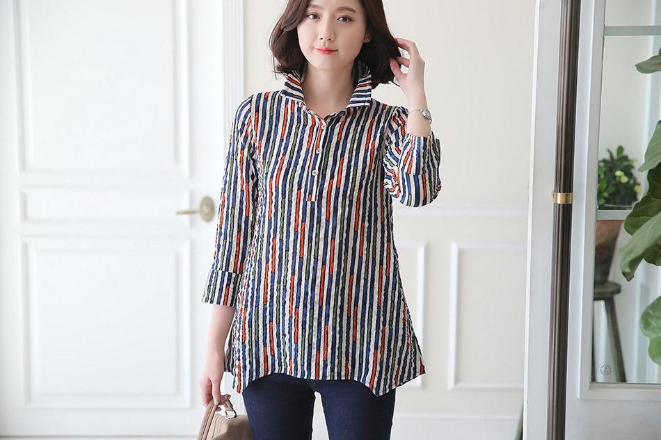 선명한 컬러감이 예술인 스트라이프셔츠 ♥