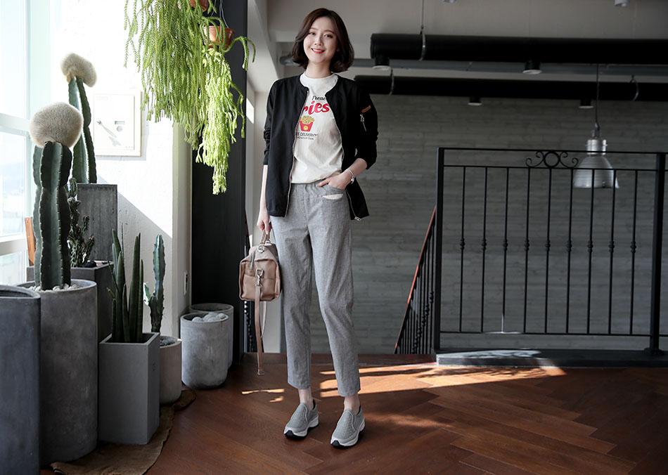 '프렌치 레터링티셔츠'와 코디 ♥