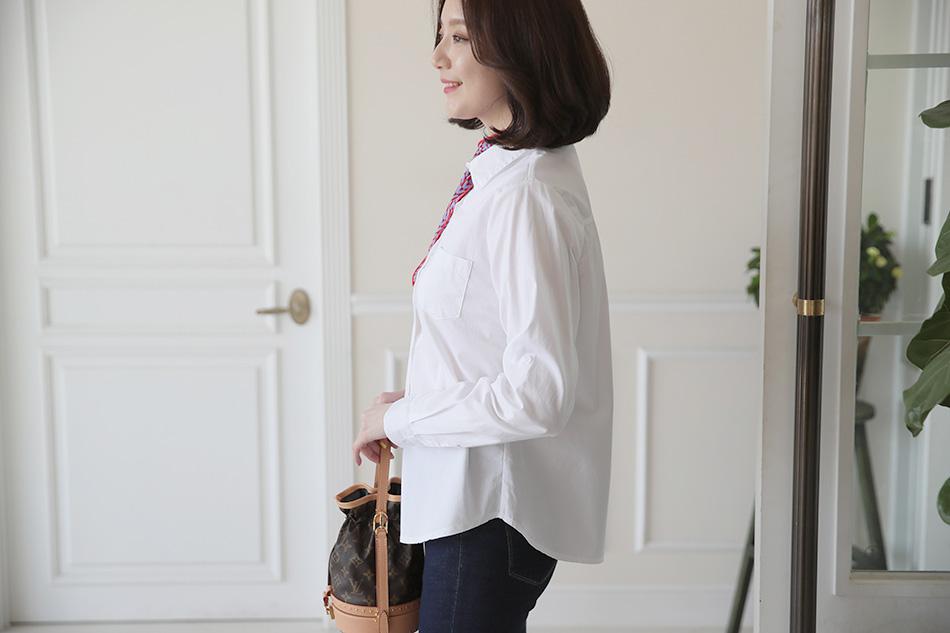 기본 스타일 깔끔한 셔츠(마음)