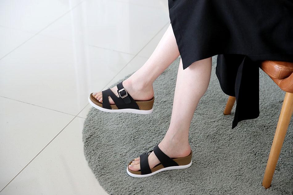 발이편한 6cm 키높이 슬리퍼 ♥