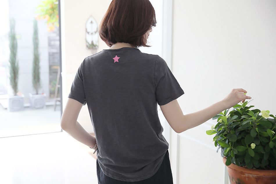 내추럴한 멋의 컷팅티셔츠 : )