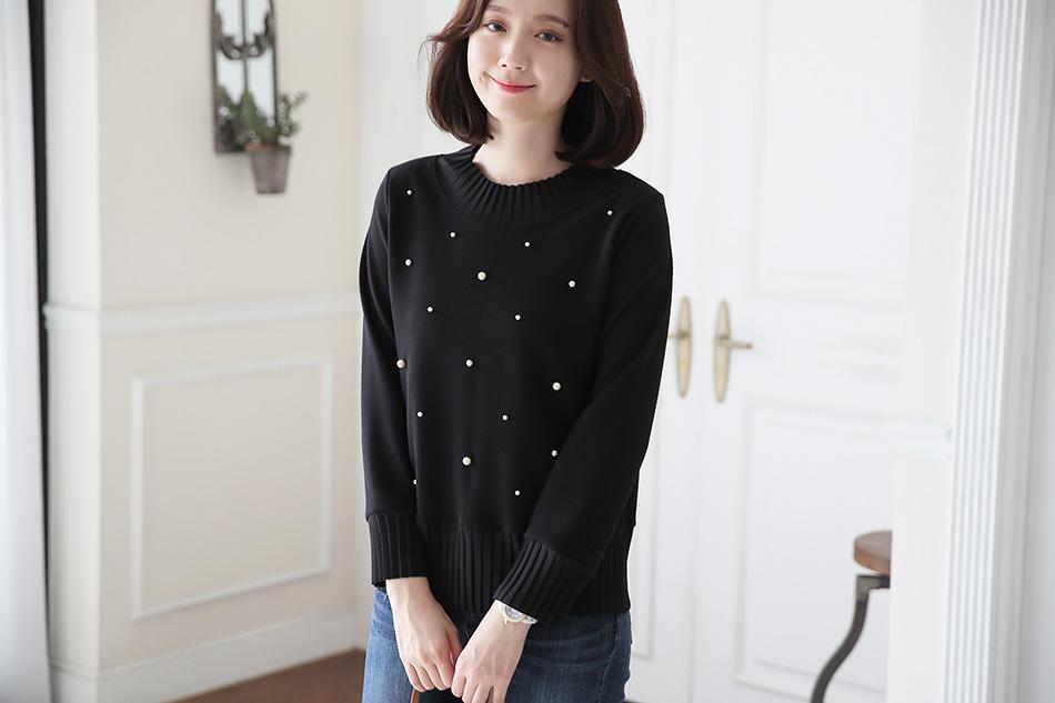 군살걱정없이 여성스러운 엠보싱 티셔츠♡
