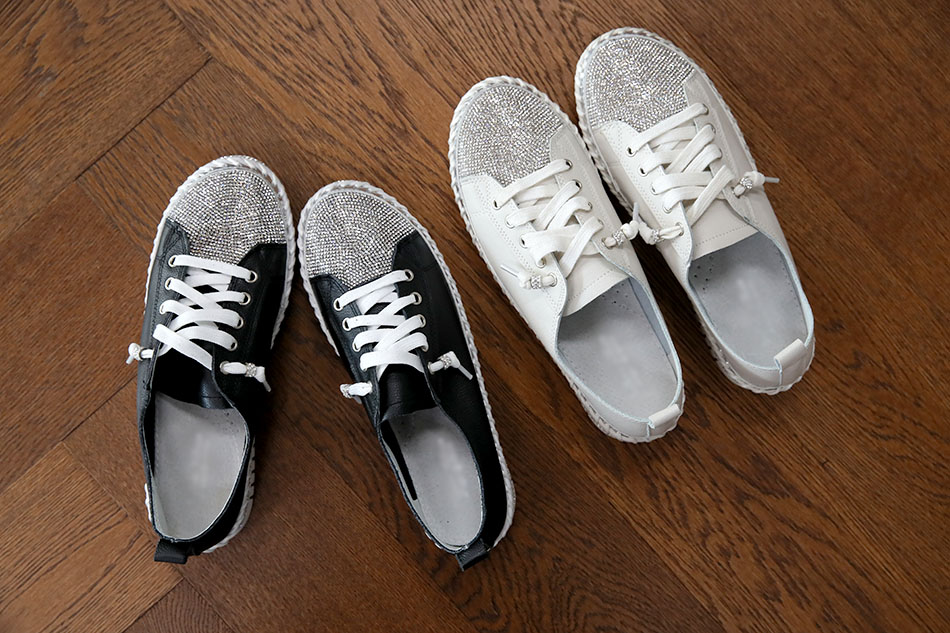 신발끈 링비즈 포인트로 매력만점!!