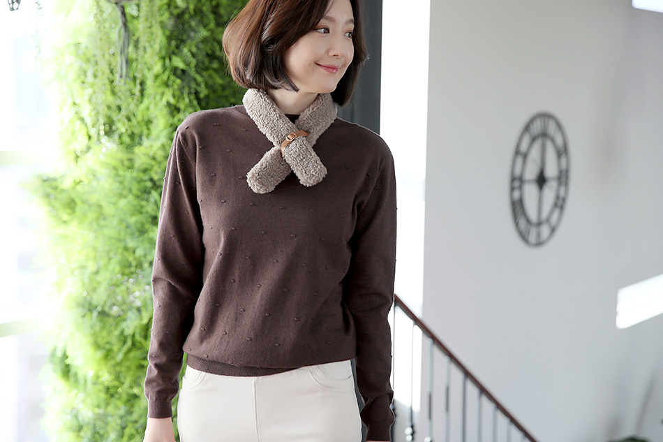몽글몽글~ 귀여운 양털쁘띠목도리 ^ ^