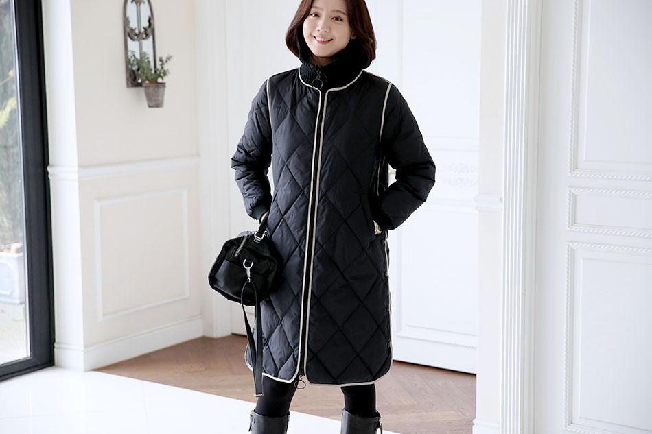 코트처럼 입기 좋은 패딩>.<