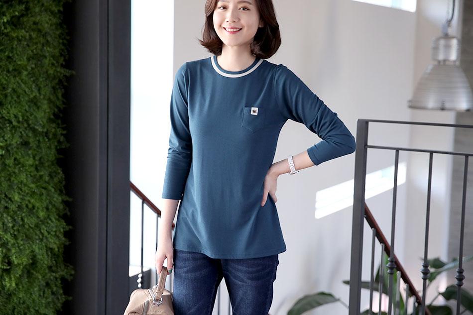 산뜻한 배색이 돋보이는 기본티셔츠:)