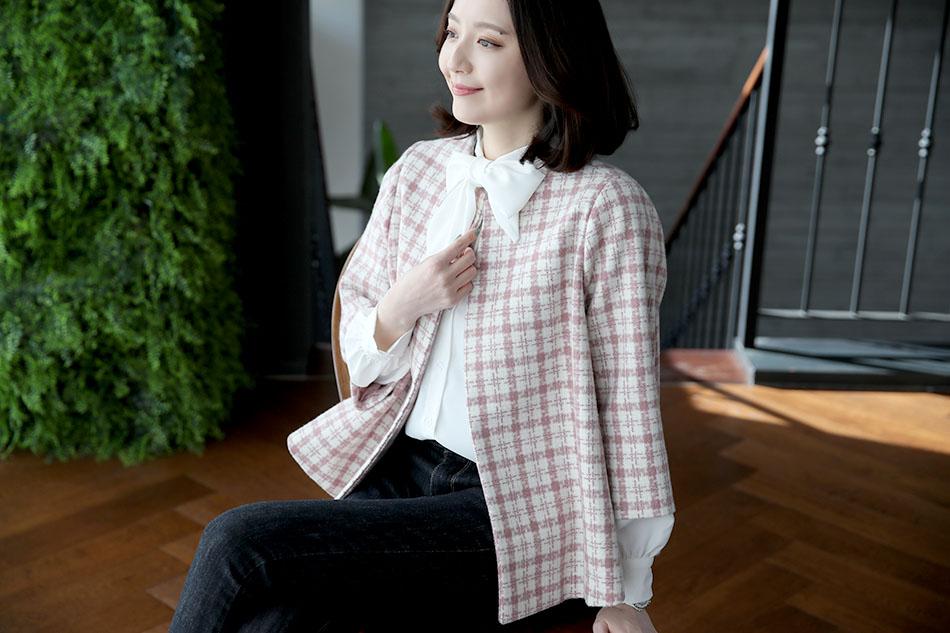 사랑스러운 핑크 컬러의 체크패턴 ^^