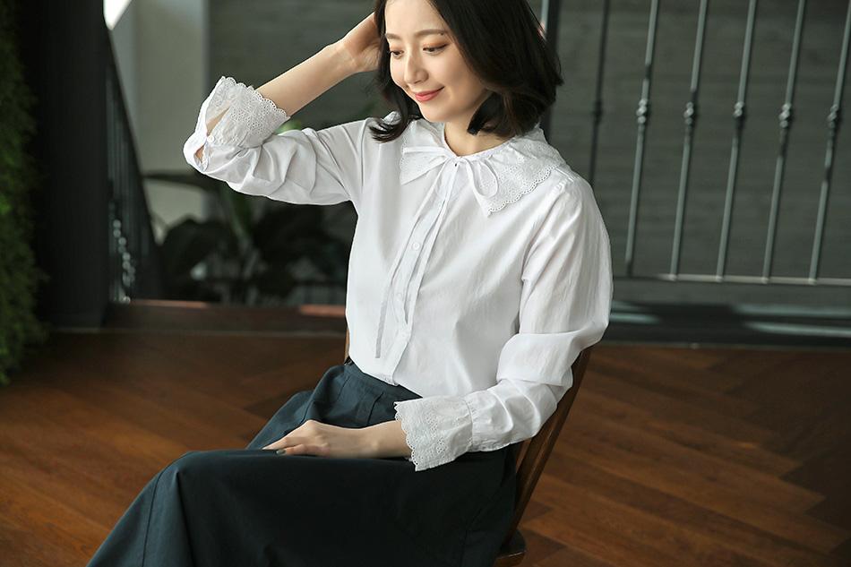 깔끔한 화이트 셔츠의 러블리한 변신 >.<