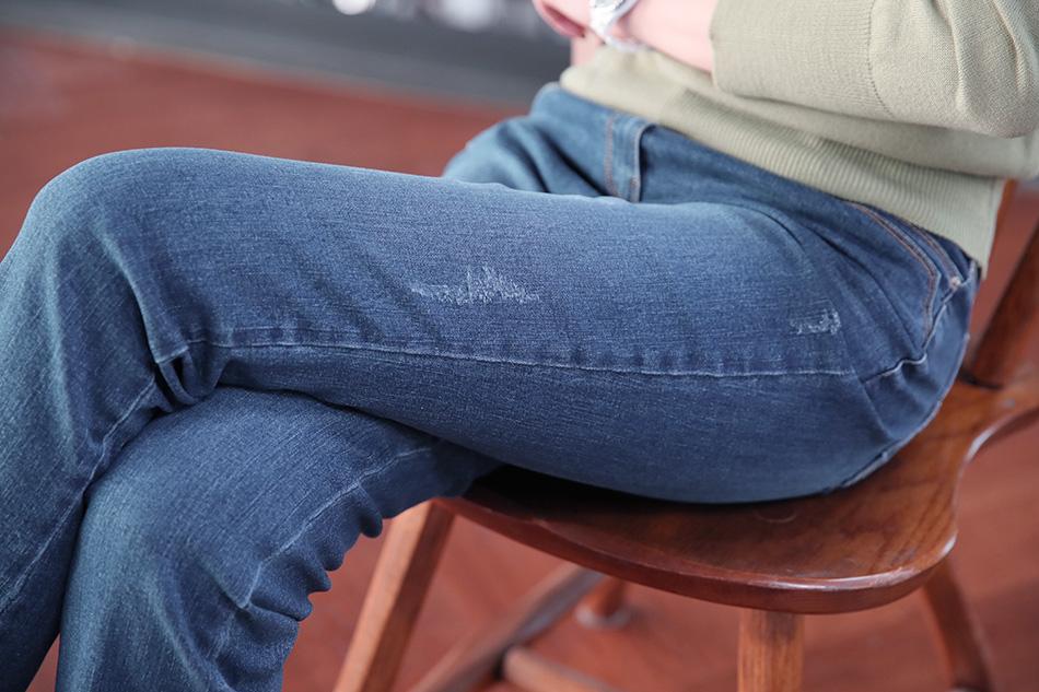 허벅지가 슬림해보이는 워씽과 스크래치 디테일!