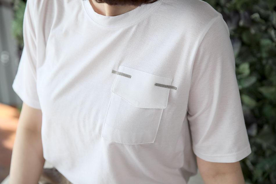 기본 라운드 티셔츠(키스)